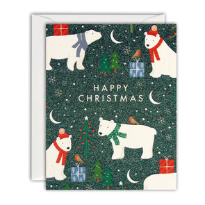 R3213 - Polar Bears Pattern Mini pk of 5 cards