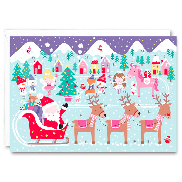 RA2723 - Santa and Unicorn Advent Calendar
