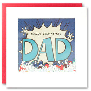 RPK2755 - Dad Kapow Christmas Shakies Card