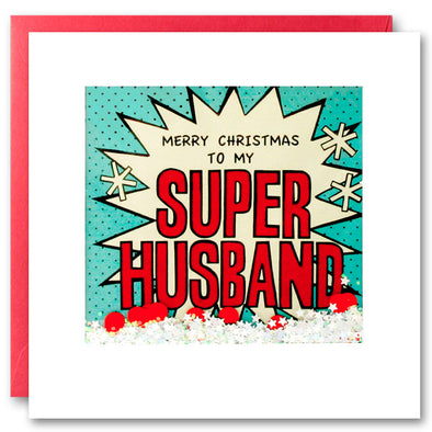 RPK2757 - Husband Kapow Christmas Shakies Card