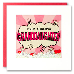 RPK2761 - Granddaughter Kapow Christmas Shakies Card