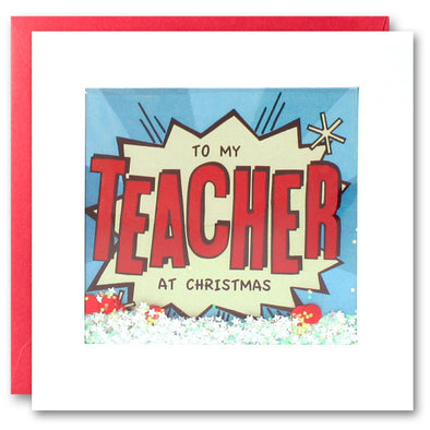 RPK2762 - Teacher Kapow Christmas Shakies Card