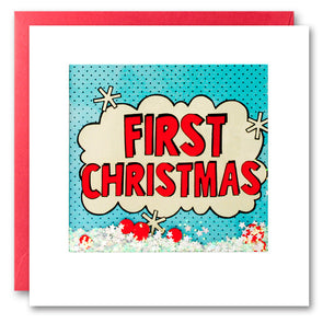 RPK2763 - First Christmas Kapow Shakies Card