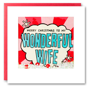 RPK2756 - Wife Kapow Christmas Shakies Card