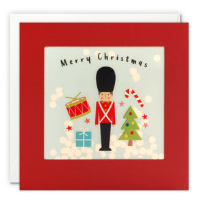 RPP3482 - Toy Soldier Christmas Paper Shakies Card