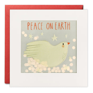 RPP3486 - Peace Dove Christmas Paper Shakies Card