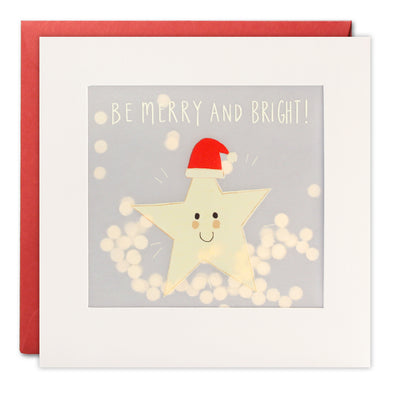 RPP3488 - Happy Star Christmas Paper Shakies Card