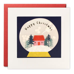 RPP3491 - House Snow Globe Christmas Paper Shakies Card