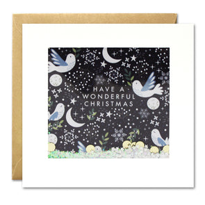 RPS2909 - Dove Pattern Christmas Shakies Card
