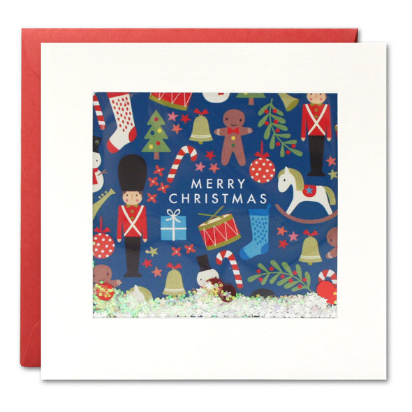 RPS2911 - Toy Pattern Christmas Shakies Card