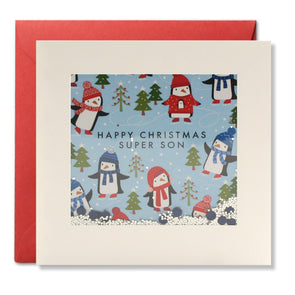 RPS3178 - Son Penguin Pattern Christmas Shakies Card