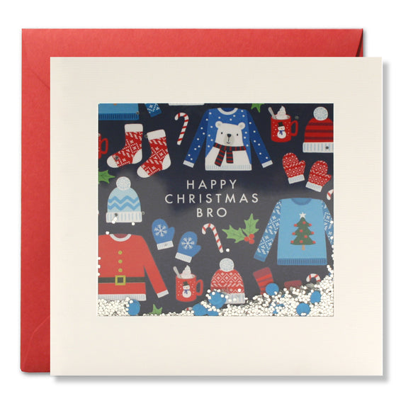 RPS3180 - Bro Jumper Pattern Christmas Shakies Card