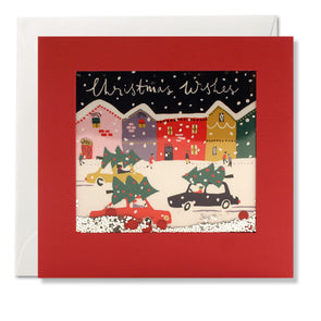 RPS3187 - Christmas Cars Shakies Card