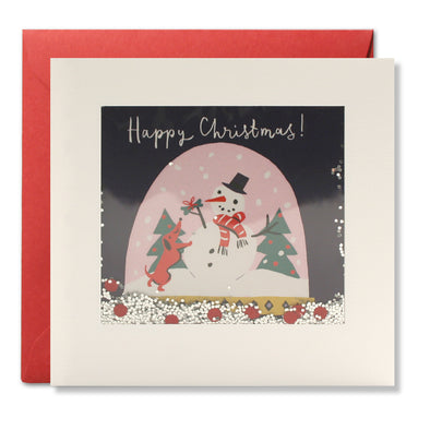 RPS3188 - Snow Globe Christmas Shakies Card
