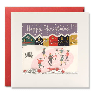 RPS3192 - Christmas Ice Skaters Shakies Card