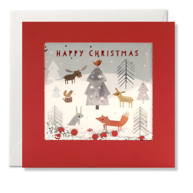 RPS3193 - Forest Animals Christmas Shakies Card