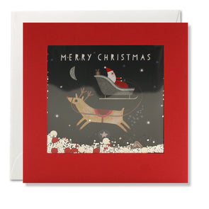 RPS3195 - Santa and Reindeer Shakies Card