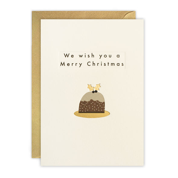 RTN3475 - Christmas Pudding Ingot Card