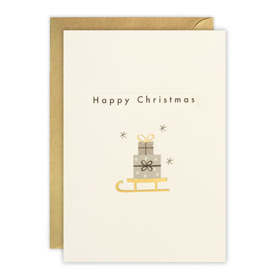 RTN3477 - Christmas Sledge Ingot Card