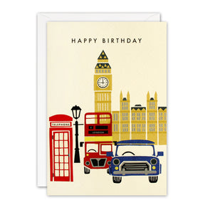 T3238 - Houses of Parliament London Retro Press Card
