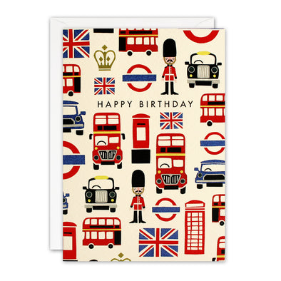 T3239 - London Pattern Retro Press Card