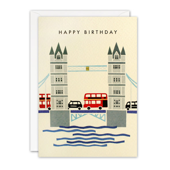T3241 - Tower Bridge London Retro Press Card