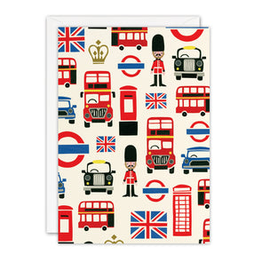 T3394 - London Pattern Blank Retro Press Card