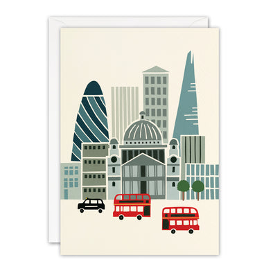 T3395 - London Sky Line Blank Retro Press Card