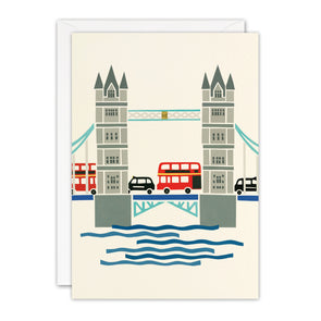 T3396 - Tower Bridge London Blank Retro Press Card