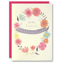 TM2643 - Mothering Sunday Circle of Flowers Card