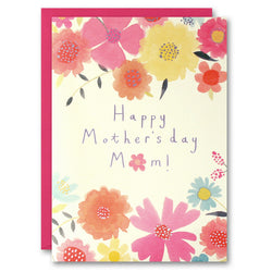 TM2645 - Mother's Day Flowers Above and Below Card