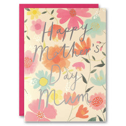 TM2646 - Mother's Day Flowers and Typography Card