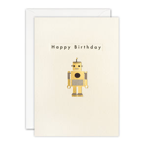 TN3500 - Birthday Robot Ingot Card