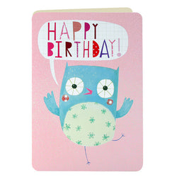 HS2185 - Owl Birthday Card