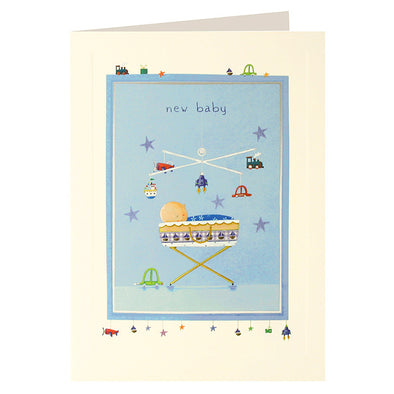L2011 - Baby Boy Mobile Layers Card