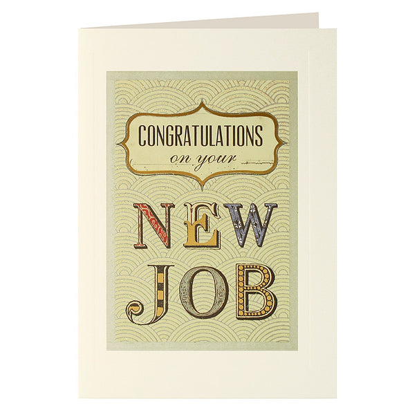 L2126 - Congratulations New Job Layers Card