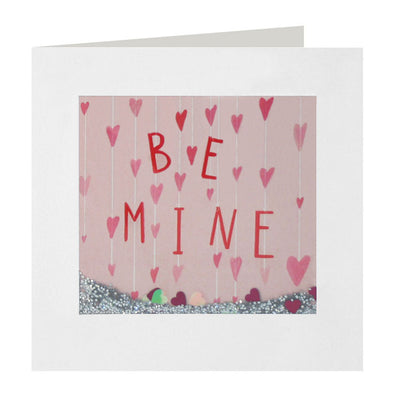 PS2376 - Be Mine Hanging Hearts Shakies Card