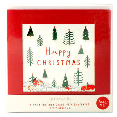 RPB02 - Christmas Trees / Let it Snow pk of 6 Shakies Cards