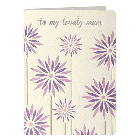 TM2255 - Purple Flowers Mother's Day Retro Card