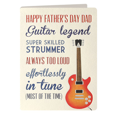 UF2262 - Guitarist Father's Day Communiqu? Card