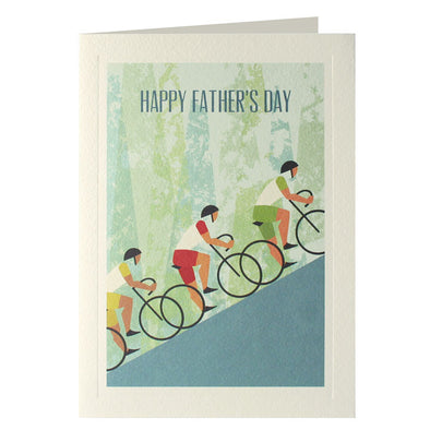 UF2382 - Three Cyclists Father's Day Card