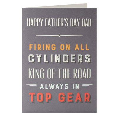UF2503 - Top Gear Father's Day Card