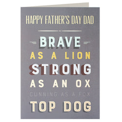 UF2505 - Top Dog Father's Day Card