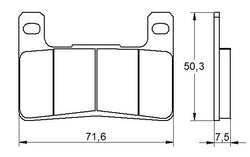 Accossato Brake Pad AGPA109 (dimensions 71,6x50,3x7,5)
