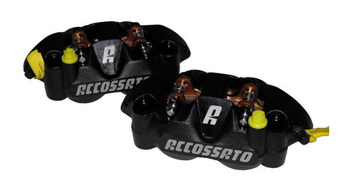 PZ004 Accossato Monoblock Forged Radial Brake Caliper 108 mm With Aluminium Pistons