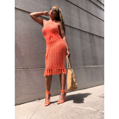 The Yaya Neon Crochet Dress | The Stylish Edit