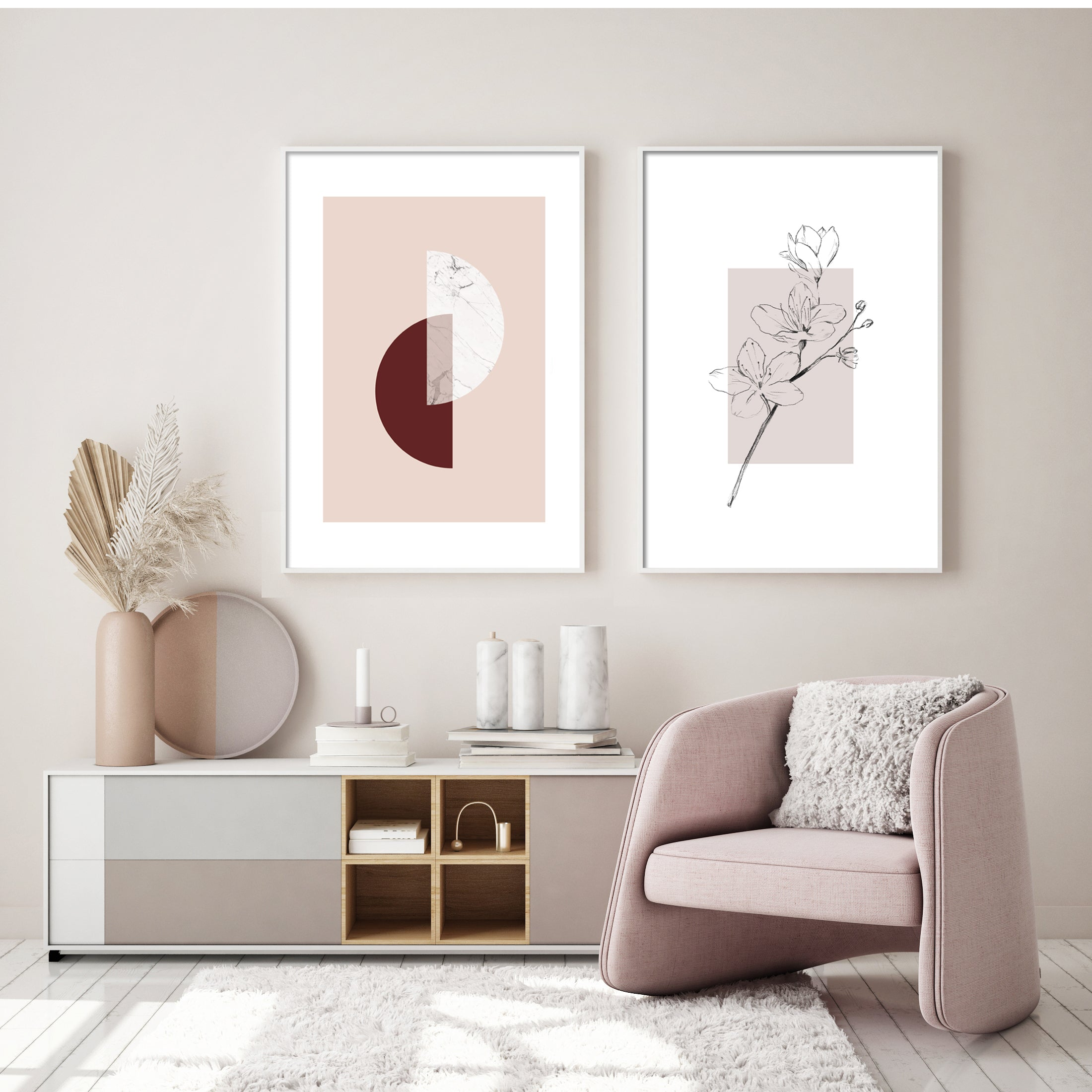 PERFECT PINK PAIRING GALLERY WALL