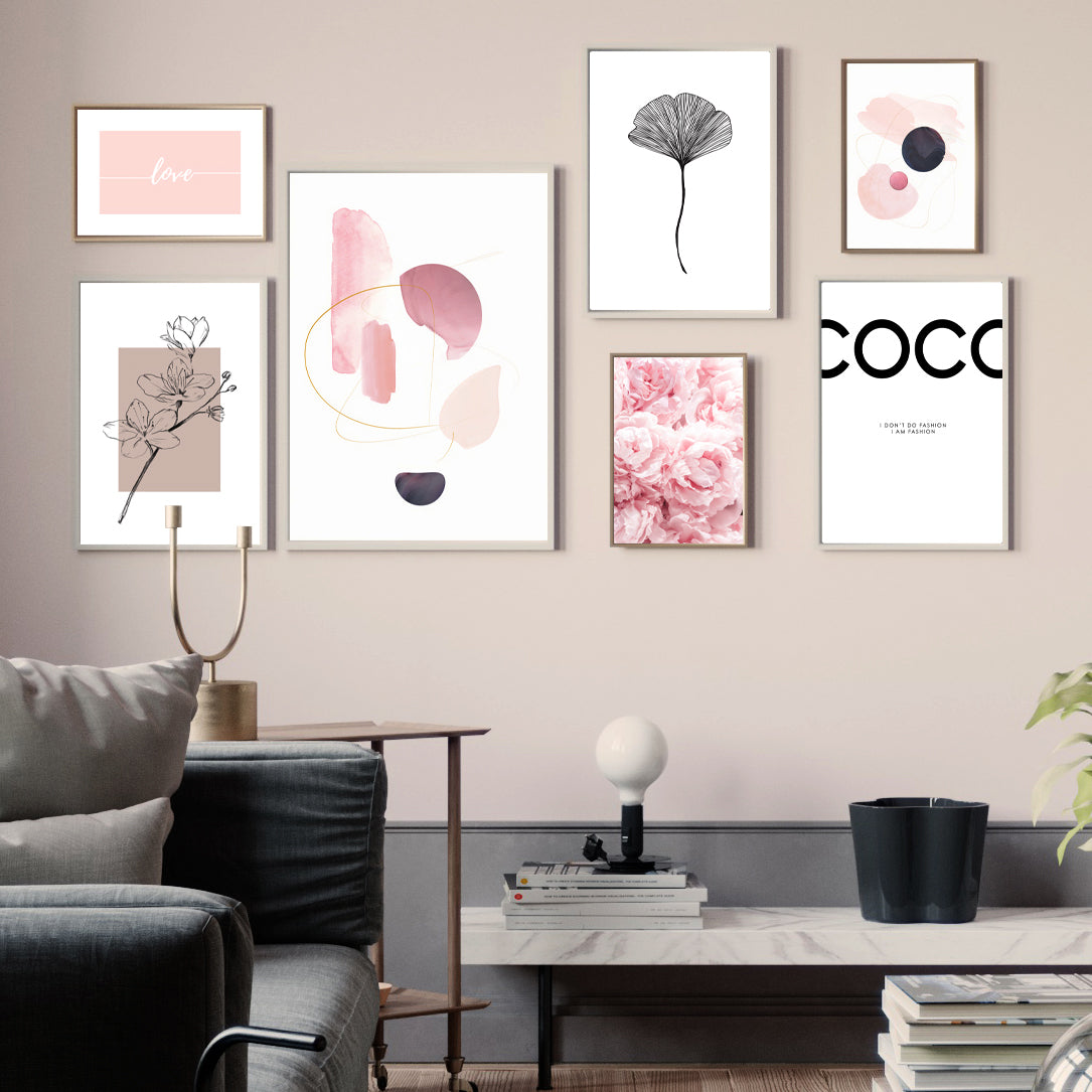 PINK MIXED GALLERY WALL