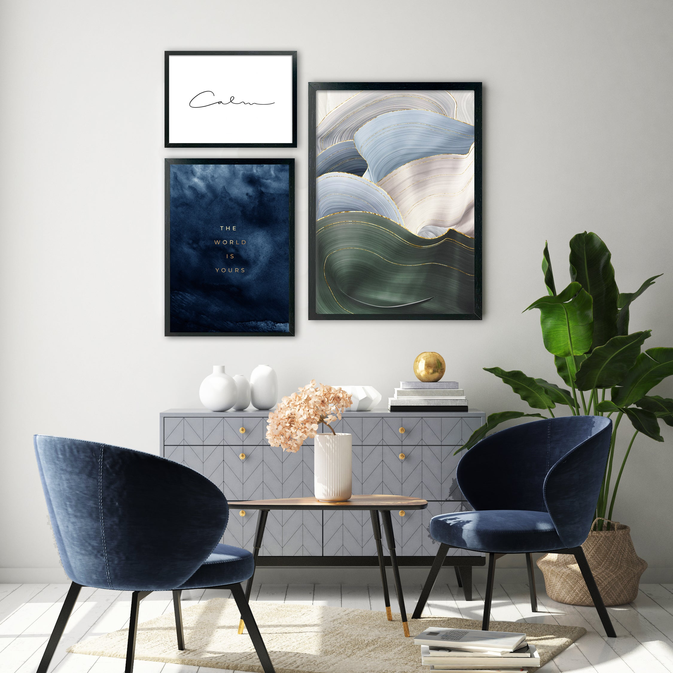 CALMING DUNES GALLERY WALL
