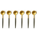 TUSK TEASPOONS | BLACK AND GOLD | 6 PIECE